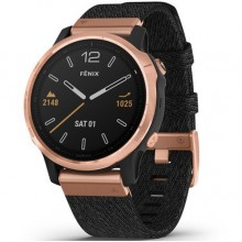 Fenix 6S - Rose Gold-tone with Heathered Black Nylon Band