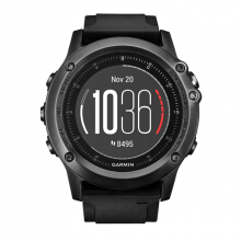 Fenix3, Sapphire HR – Gray with black silicone band