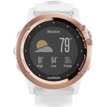 Fenix3, Sapphire, Rose Gold tone with White Band