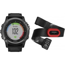 Fenix3, Sapphire HR – Gray Performer Bundle with black silicone band